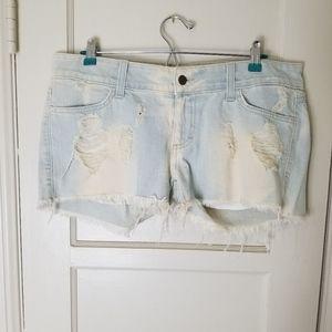 SIWY Madeleine distressed cut off shorts